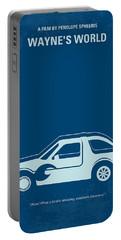 No211 My Waynes World Minimal Movie Poster Portable Battery Charger