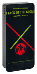 No224 My Star Wars Episode II Attack Of The Clones Minimal Movie Poster Portable Battery Charger