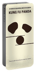 No227 My Kung Fu Panda Minimal Movie Poster Portable Battery Charger by Chungkong Art