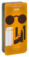 No239 My Leon Minimal Movie Poster Portable Battery Charger