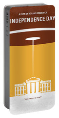 No249 My Independence Day Minimal Movie Poster Portable Battery Charger
