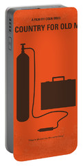 No253 My No Country For Old Men Minimal Movie Poster Portable Battery Charger