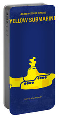 No257 My Yellow Submarine Minimal Movie Poster Portable Battery Charger