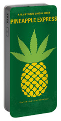 No264 My Pineapple Express Minimal Movie Poster Portable Battery Charger by Chungkong Art