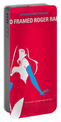 No271 My Roger Rabbit Minimal Movie Poster Portable Battery Charger