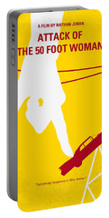 No276 My Attack Of The 50 Foot Woman Minimal Movie Poster Portable Battery Charger