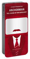 No278 My Anchorman Ron Burgundy Minimal Movie Poster Portable Battery Charger