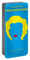 No284 My Week With Marilyn Minimal Movie Poster Portable Battery Charger by Chungkong Art