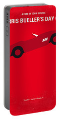 No292 My Ferris Bueller's Day Off Minimal Movie Poster Portable Battery Charger