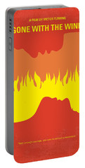 No299 My Gone With The Wind Minimal Movie Poster Portable Battery Charger