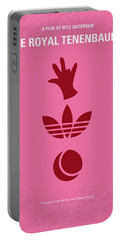 No320 My The Royal Tenenbaums Minimal Movie Poster Portable Battery Charger by Chungkong Art
