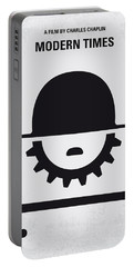 No325 My Modern Times Minimal Movie Poster Portable Battery Charger