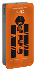 No330 My Speed Minimal Movie Poster Portable Battery Charger