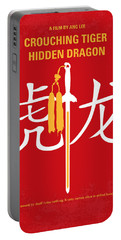 No334 My Crouching Tiger Hidden Dragon Minimal Movie Poster Portable Battery Charger