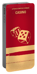 No348 My Casino Minimal Movie Poster Portable Battery Charger