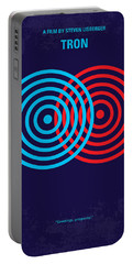 No357 My Tron Minimal Movie Poster Portable Battery Charger