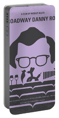 No363 My Broadway Danny Rose Minimal Movie Poster Portable Battery Charger