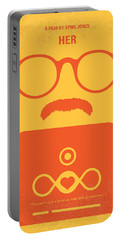 No372 My Her Minimal Movie Poster Portable Battery Charger by Chungkong Art
