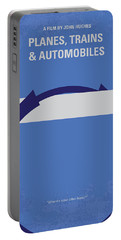 No376 My Planes Trains And Automobiles Minimal Movie Poster Portable Battery Charger