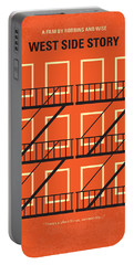No387 My West Side Story Minimal Movie Poster Portable Battery Charger by Chungkong Art