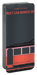 No397 My Street Car Named Desire Minimal Movie Poster Portable Battery Charger