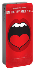 No405 My When Harry Met Sally Minimal Movie Poster Portable Battery Charger by Chungkong Art