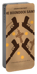 No419 My Boondock Saints Minimal Movie Poster Portable Battery Charger by Chungkong Art