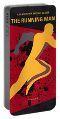 No425 My Running Man Minimal Movie Poster Portable Battery Charger