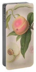 Noblesse Peach Portable Battery Charger by William Hooker