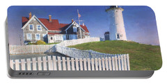 Nobska Point Lighthouse Portable Battery Charger by Jean-Pierre Ducondi
