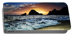 Norcal Sunset On Jenner Beach Portable Battery Charger