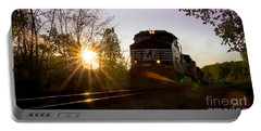 Norfolk And Southern At Sunset Portable Battery Charger