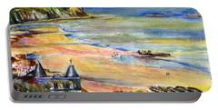 Normandy Beach Portable Battery Charger by John D Benson