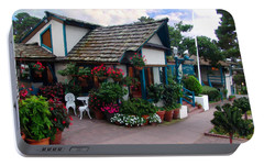 Portable Battery Charger featuring the photograph Normandy Inn - Carmel California by Glenn McCarthy Art and Photography