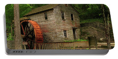 Rice Grist Mill Portable Battery Charger by Douglas Stucky