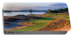 Portable Battery Charger featuring the photograph North By Northwest - Chambers Bay Golf Course by Chris Anderson