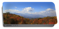North Carolina Mountains In The Fall Portable Battery Charger