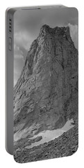 109649-bw-north Face Pingora Peak, Wind Rivers Portable Battery Charger