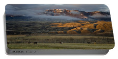 North Fork Pasture-signed Portable Battery Charger by J L Woody Wooden
