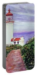 North Head Light House On The Washington Coast Portable Battery Charger