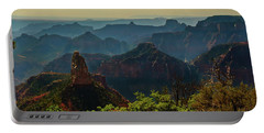 Portable Battery Charger featuring the photograph North Rim Grand Canyon Imperial Point by Bob and Nadine Johnston
