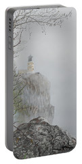North Shore Lighthouse In The Fog Portable Battery Charger