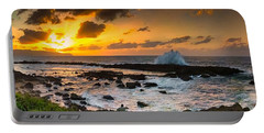 North Shore Sunset Crashing Wave Portable Battery Charger