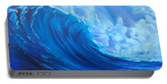 Portable Battery Charger featuring the painting Wave V1 by Jenny Lee