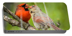 Northern Cardinal Male And Female Portable Battery Charger