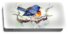 Portable Battery Charger featuring the painting Northern Parula by Katherine Miller