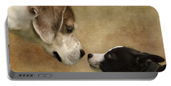 Nose To Nose Dogs Portable Battery Charger