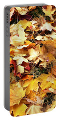 Portable Battery Charger featuring the photograph Nothing But Leaves by Mike Ste Marie
