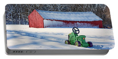 Nothing Runs Like A Deere #1 Portable Battery Charger by Nikolyn McDonald