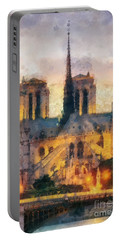 Notre Dame De Paris Portable Battery Charger by Mo T